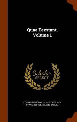 Quae Eexstant, Volume 1 by Cornelius Nepos image