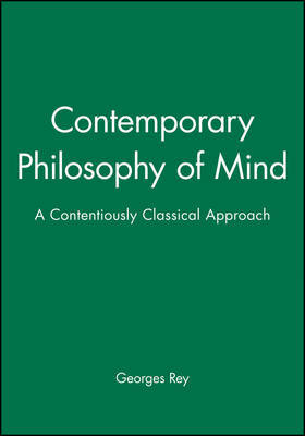 Contemporary Philosophy of Mind by Georges Rey image