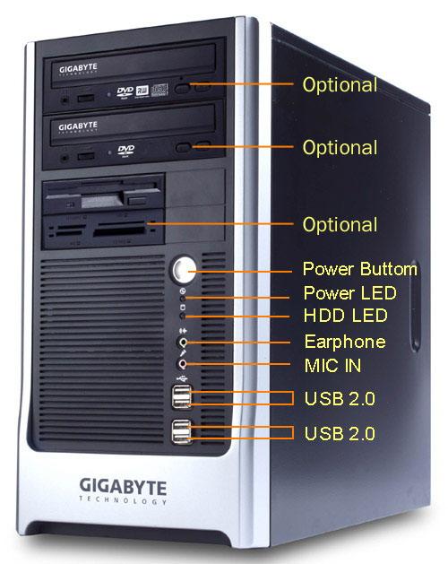 Gigabyte Barebone System G-Max MB91VB2 mATX LGA775 image