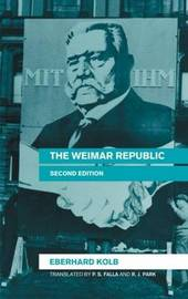 The Weimar Republic by Eberhard Kolb image