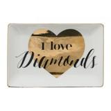 Annabel Trends Trinket Dish - I Love Diamonds
