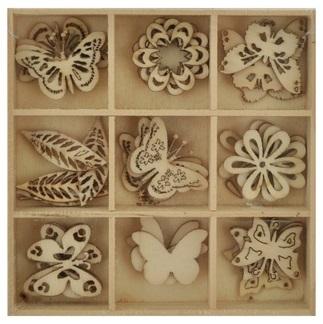 Kaisercraft: DIY - Wooden Shapes Butterflys - 45 Pc