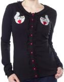 Sourpuss Cat Lady Lace Cardigan (Medium)
