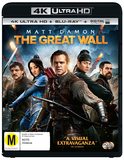 The Great Wall (4K UHD + Blu-ray) DVD