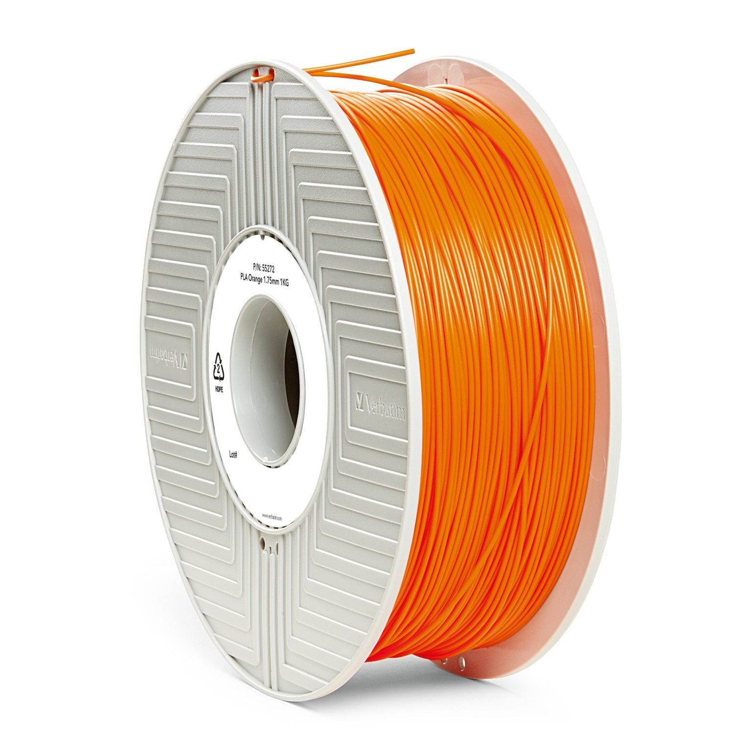 Verbatim 3D Printer PLA 1.75mm Filament - 1kg (Orange) image