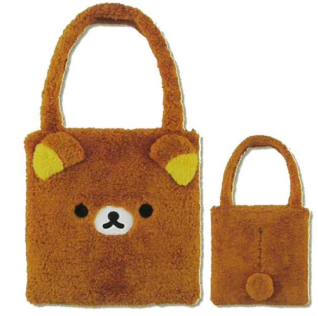 Rirakkuma: Face Printed Bag (Brown)