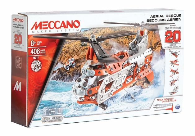 Meccano: Helicopter - 20 Model Set