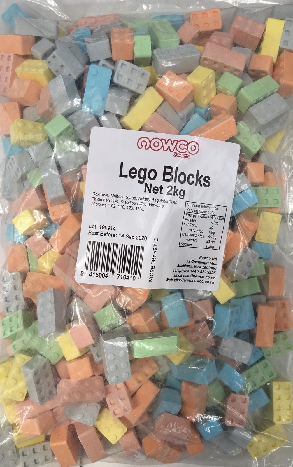 Lego Edible Blocks Bulk Bag 2kg image
