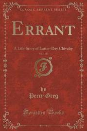Errant, Vol. 3 of 3 by Percy Greg