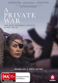 A Private War on DVD