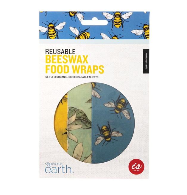 Reusable Beeswax Food Wraps - Set of 3