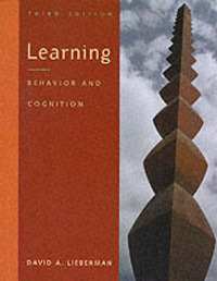 Learning: Behavior and Cognition by David A. Lieberman image