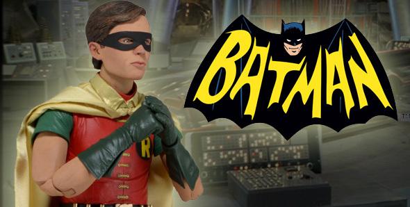 Batman Classic 1966 Burt Ward Robin 1/4 Action Figure image