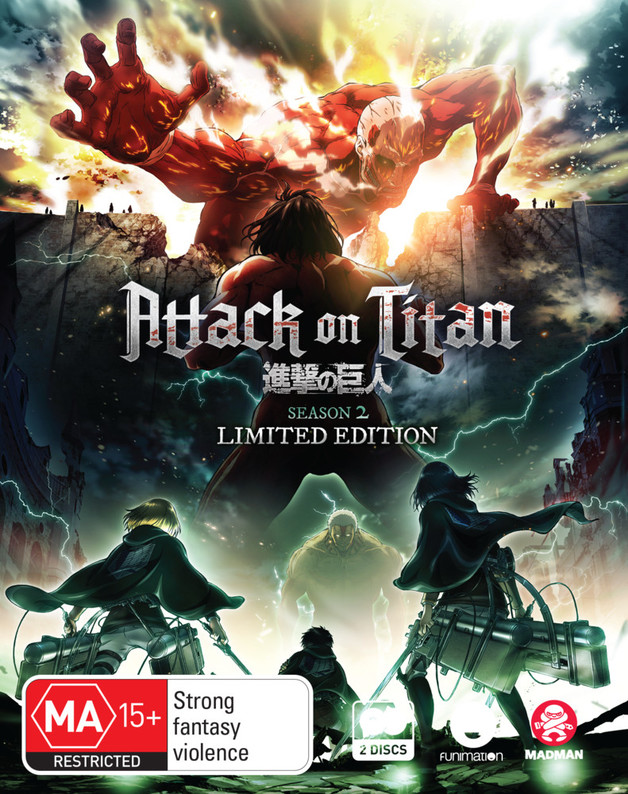 Attack On Titan - Complete Season 2 (Limited Collector's Edition) on Blu-ray