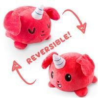 TeeTurtle: Reversible Mini Plush - Puppicorn (Red)
