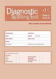 Diagnostic Spelling Tests: Test 2, Form B Pk10 by Mary Crumpler image