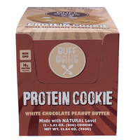 Buff Bake Protein Cookie - White Choc Peanut Butter (Box of 12 - 80g)
