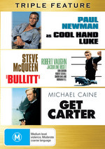 Cool Hand Luke / Bullitt / Get Carter Triple Pack (3 Disc Set) on DVD