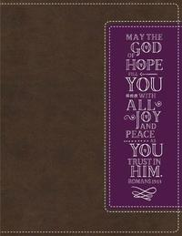 NIV, Beautiful Word Coloring Bible and 8-Pencil Gift Set, Leathersoft, Brown/Purple by Zondervan image