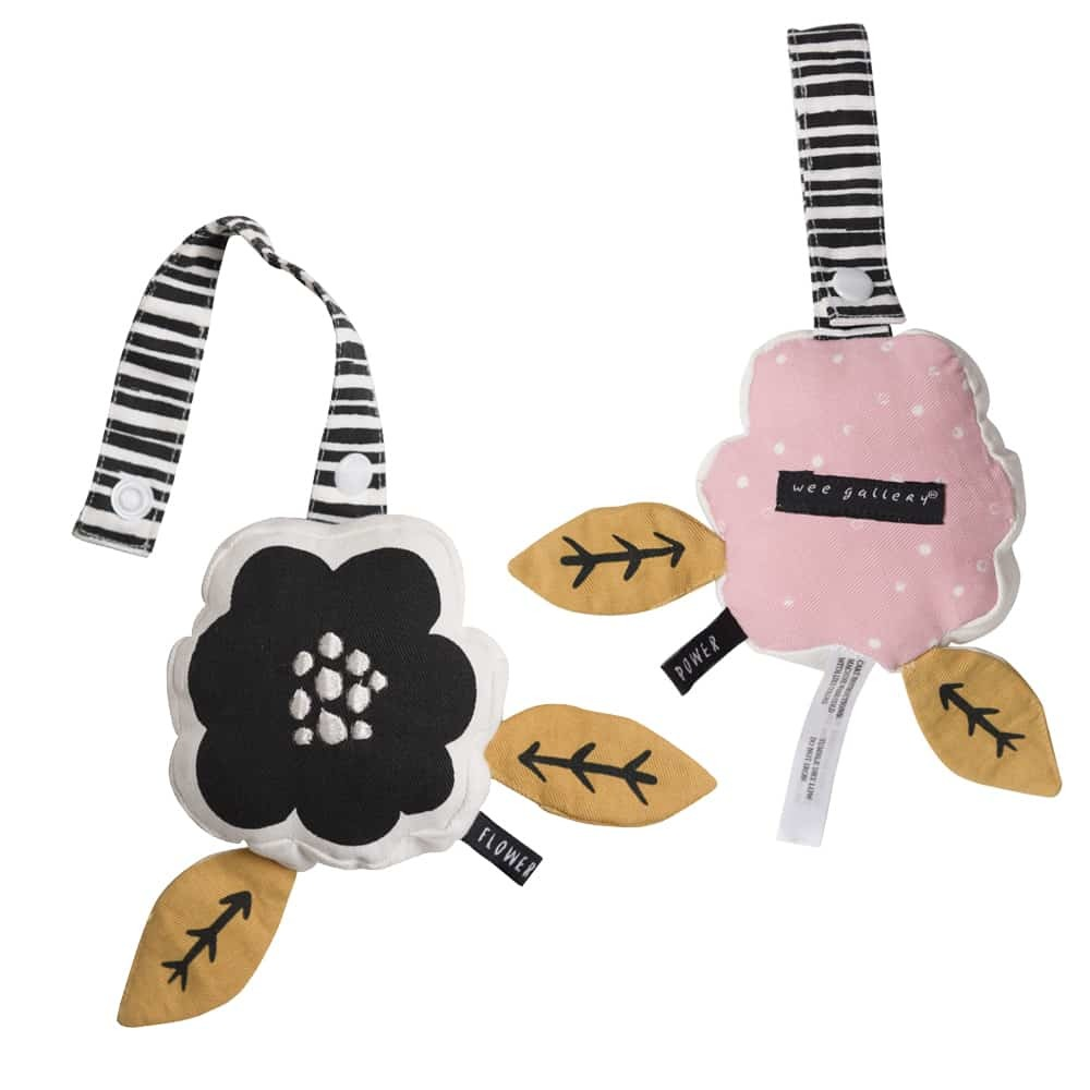 Wee Gallery: Stuffed Stroller Toy - Flower image