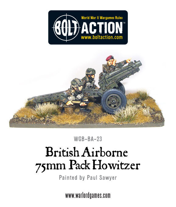 British Airborne - 75mm Pack Howitzer & Crew
