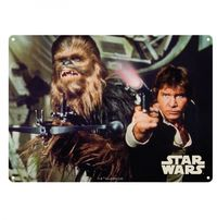 Star Wars: Metal Sign - Han Solo And Chewbacca