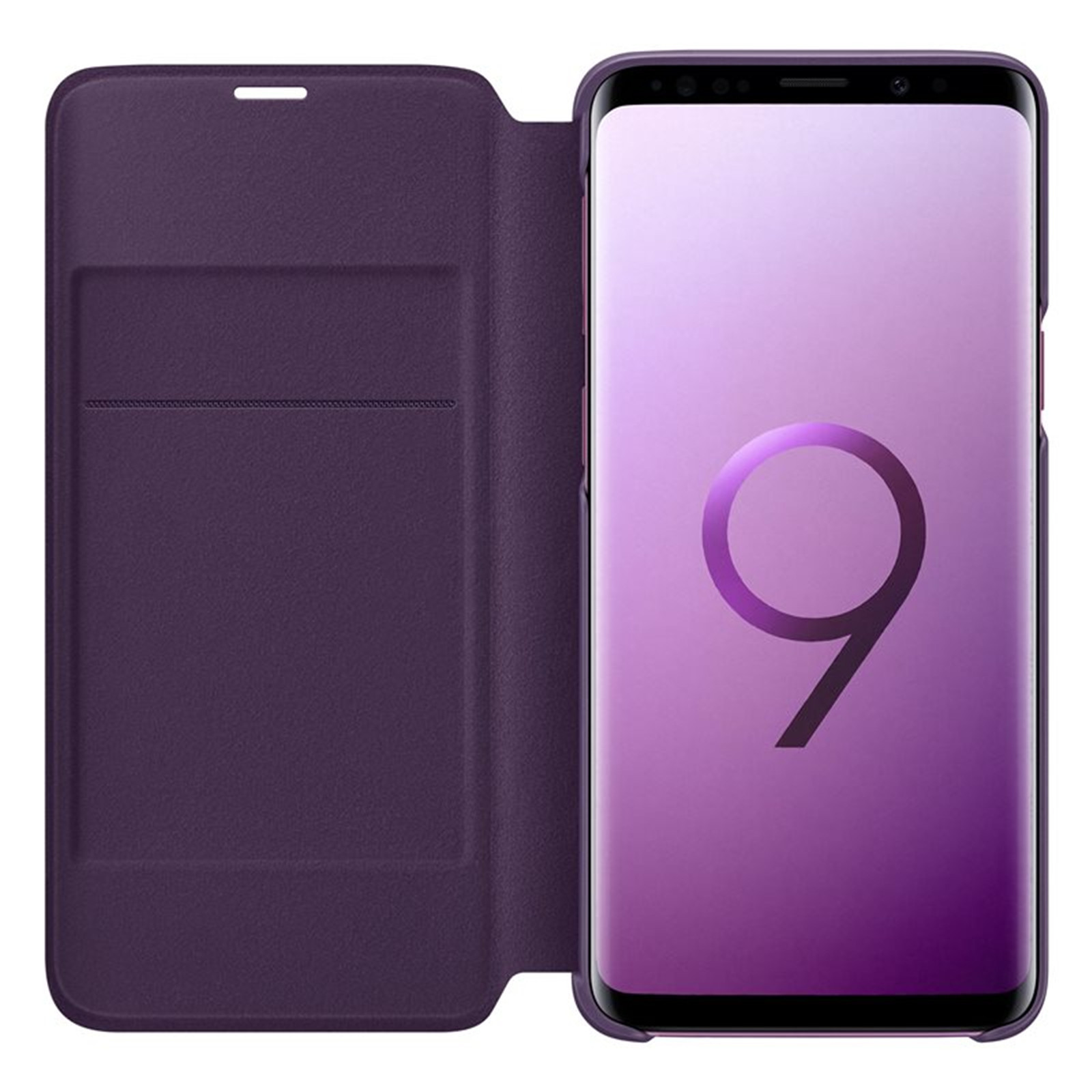 newest a2c0d 30705 Samsung Galaxy S9 LED View Flip Cover - Purple