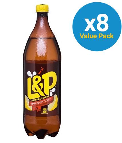 Lemon & Paeroa Soft Drink 1.5l X 8