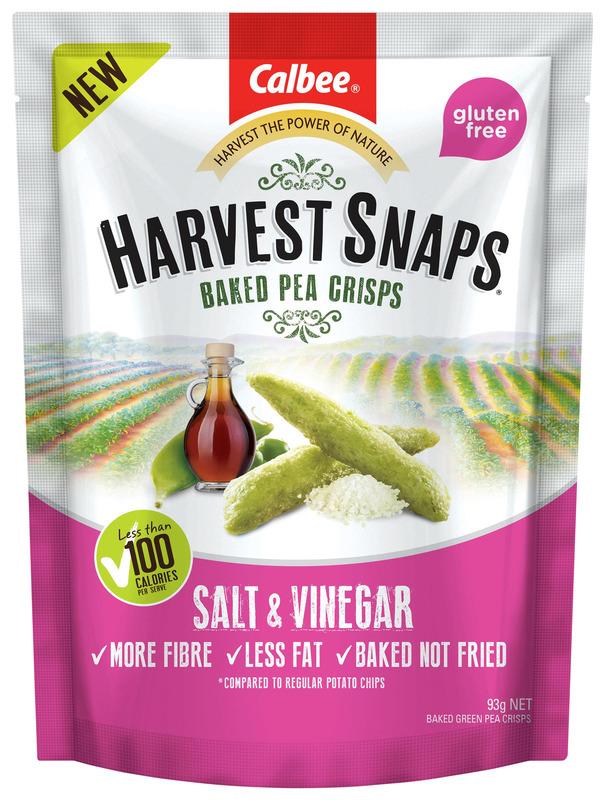 Calbee: Harvest Snaps Baked Pea Crisps - Salt & Vinegar (93g)12 pack