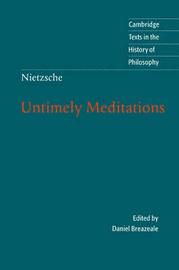 Nietzsche by Friedrich Wilhelm Nietzsche