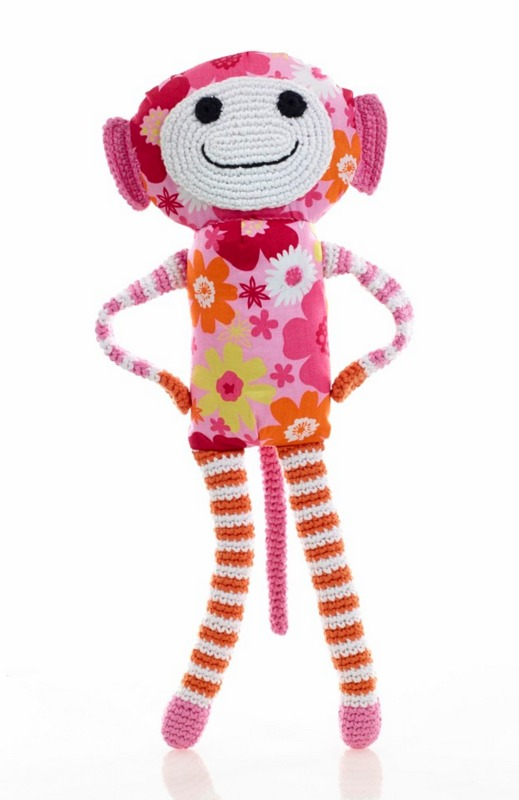 Pebble: Flower Monkey - Pink