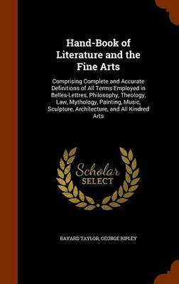 Hand-Book of Literature and the Fine Arts by Bayard Taylor image