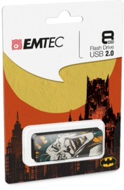 8GB Emtec: M700 USB2.0 Flashdrive - Batman Collection Joker Face