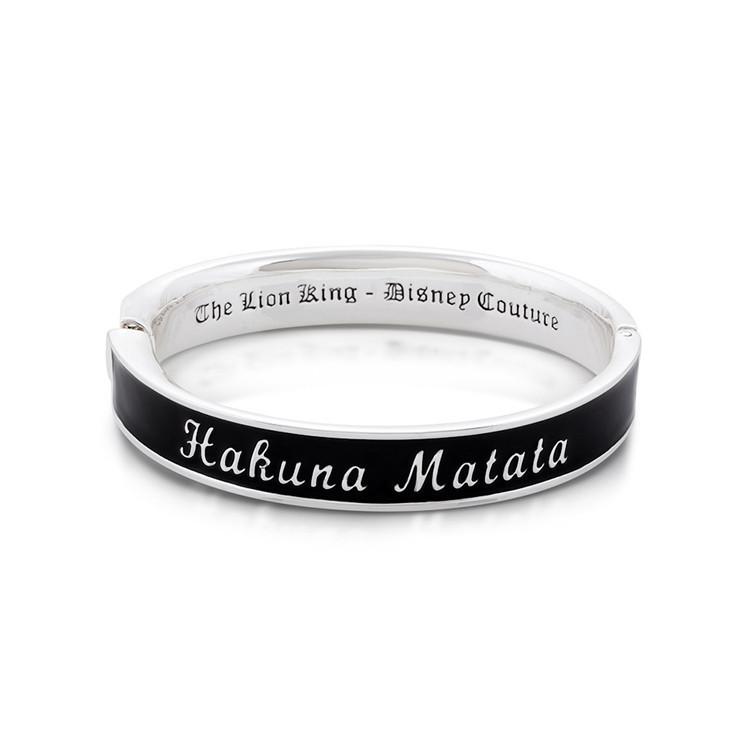 Couture Kingdom: Disney The Lion King Hakuna Matata Bangle - White Gold image