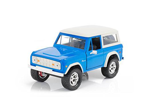 Jada: 1/24 1973 Ford Bronco Diecast Model (Blue/White) image