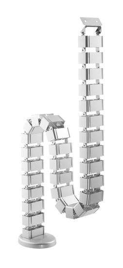 BRATECK: Deluxe Cable Management Spine. SILVER Colour.