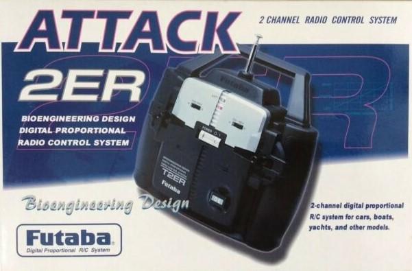 Futaba Attack 2ER - 2 Channel AM Radio Gear