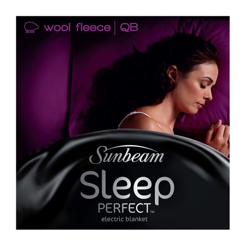 Sunbeam: Sleep Perfect Queen Bed Wool Fleece Heated Blanket