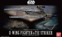 Star Wars: 1/144 U-Wing Fighter & TIE Striker - Model Kit
