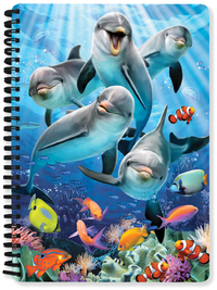 Dolphin Delight A5 Lenticular Notebook