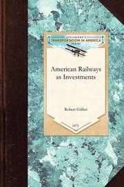 American Railways as Investments by Robert Giffen