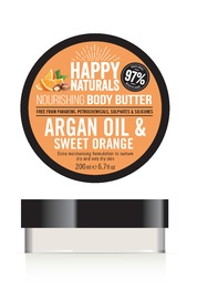 Happy Naturals Argan Oil & Sweet Orange Body Butter (200ml)
