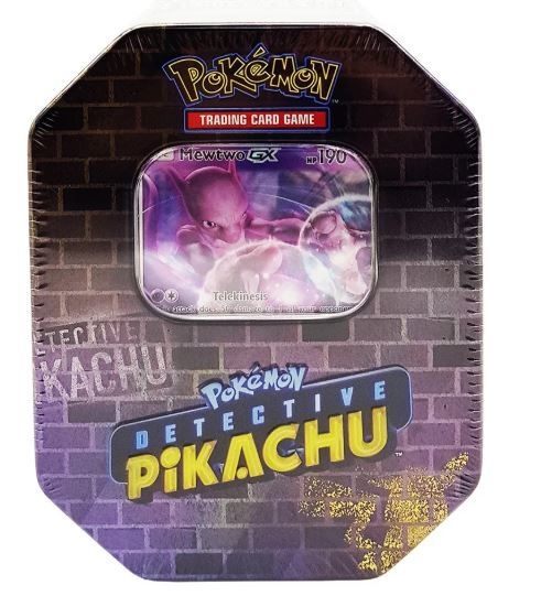 Pokemon TCG Detective Pikachu: Mewtwo Collector Tin   at