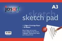 Jasart: Gummed Sketch Pad - A3 (50 Sheets)
