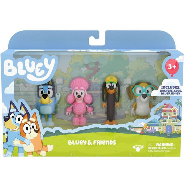 Bluey And Friends - 4 Figure Pack
