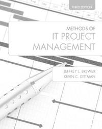Methods of IT Project Management by Jeffrey L Brewer
