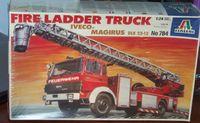 Italeri 1/24 Fire Ladder Truck Iveco-Magirus Scale Model Kit