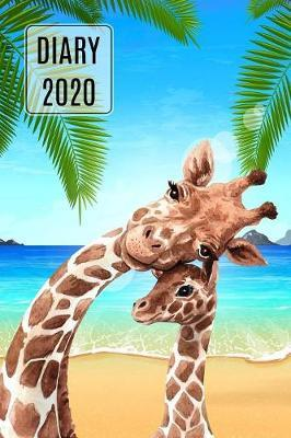 2020 Daily Diary Journal, Giraffes On Beach by Paper Pony Planners