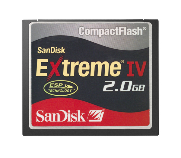 SanDisk Compact Flash Extreme IV 2048MB (2GB)  Memory image