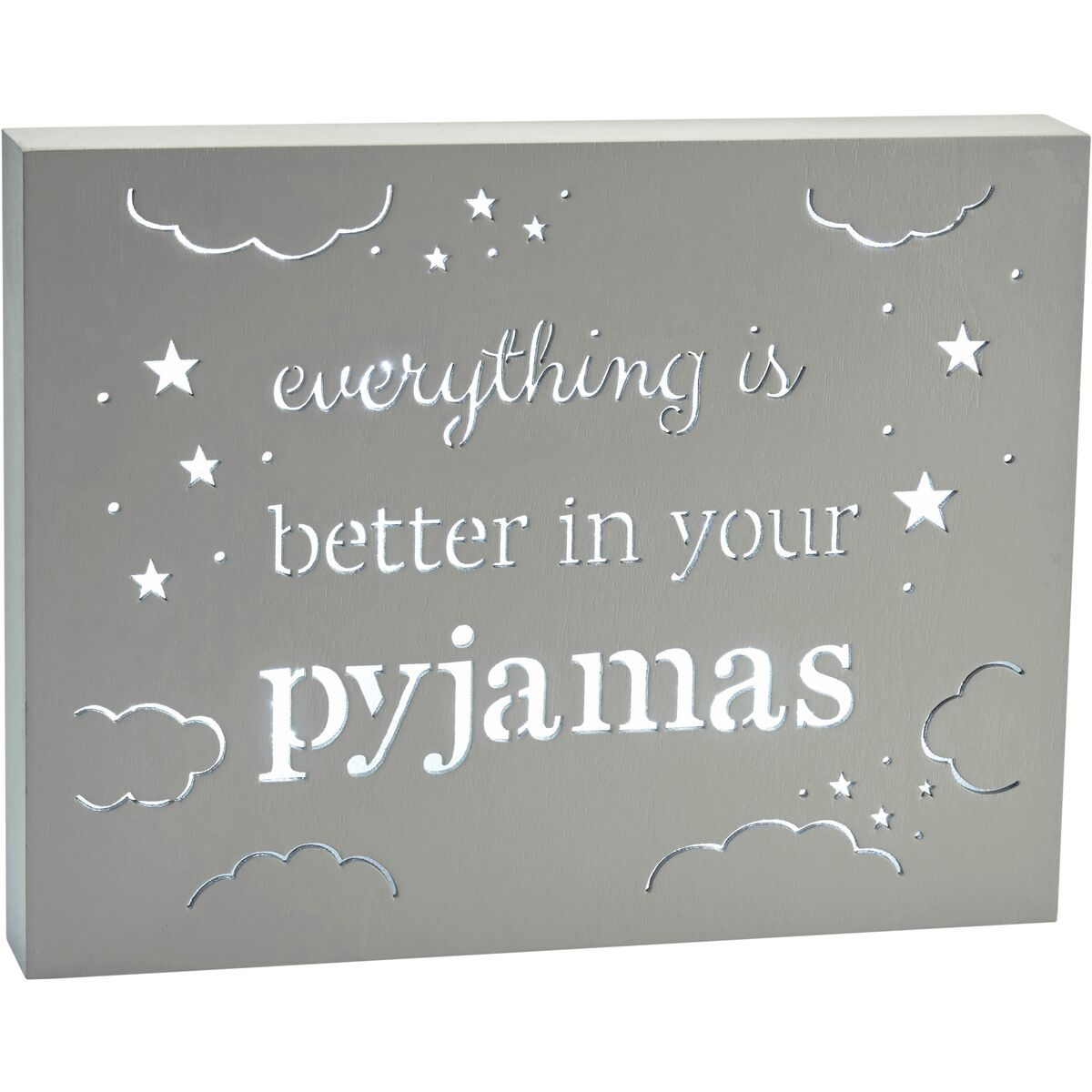 Light Up Plaque - Everything is Better in Your Pajamas image